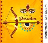shubh dussehra wallpaper design ...   Shutterstock .eps vector #694139374