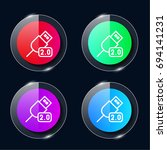 usb four color glass button ui...