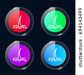 hair four color glass button ui ...