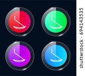 incense four color glass button ...
