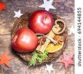 winter christmas background | Shutterstock . vector #694144855