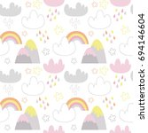 vector seamless pattern with... | Shutterstock .eps vector #694146604