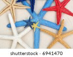 Colourful Starfishes In The...