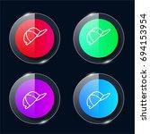 cap four color glass button ui...