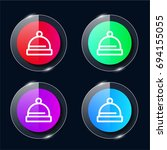 hat four color glass button ui...