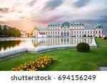 belvedere palace  vienna ... | Shutterstock . vector #694156249
