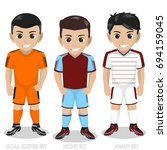 vector character football  ... | Shutterstock .eps vector #694159045