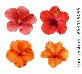 a set of pink  red and orange... | Shutterstock . vector #694159099