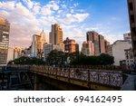 sao paulo  brazil   august 2017 ... | Shutterstock . vector #694162495