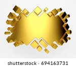 gold abstract geometric... | Shutterstock . vector #694163731
