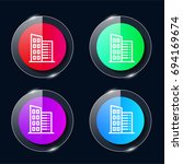 office four color glass button...