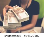 thai baht cash on hand  foreign ... | Shutterstock . vector #694170187