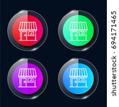 store four color glass button...