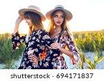 outdoor lifestyle portrait pf... | Shutterstock . vector #694171837