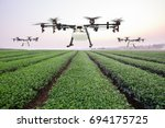 Agriculture Drone Flying On Th...