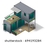 conceptual two storey house... | Shutterstock .eps vector #694193284