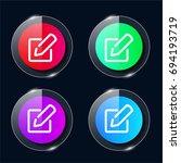 edit four color glass button ui ...
