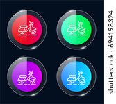 scooter four color glass button ...