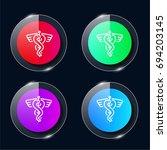 medicine four color glass...