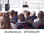 business conference and... | Shutterstock . vector #694206109