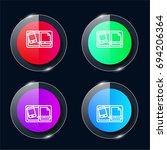 graphic design four color glass ...
