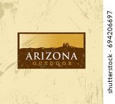 arizona outdoor adventure... | Shutterstock .eps vector #694206697