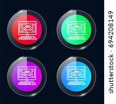 diagnostic four color glass...