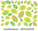 autumn leaves pattern  ... | Shutterstock .eps vector #694210255