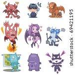 cartoon devil icon | Shutterstock .eps vector #69421195