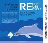 stop ocean plastic pollution... | Shutterstock .eps vector #694212835