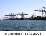 container vessels from united... | Shutterstock . vector #694218025