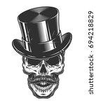 monochrome illustration of... | Shutterstock .eps vector #694218829