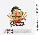 potato snack icon character...   Shutterstock .eps vector #694231939