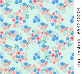 flowery bright pattern in small ... | Shutterstock .eps vector #694240204