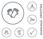 set of 6 farm outline icons set....   Shutterstock .eps vector #694257565