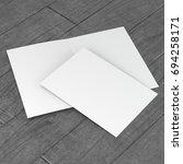 a4 brochure flyer template on... | Shutterstock . vector #694258171