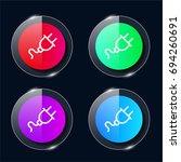 plug four color glass button ui ...