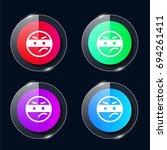 thief four color glass button...