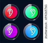 ear four color glass button ui...
