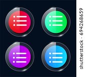 list four color glass button ui ...