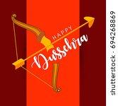 shubh dussehra  vector... | Shutterstock .eps vector #694268869