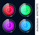 time four color glass button ui ...