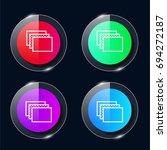 windows four color glass button ...