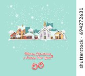 merry christmas and a happy new ... | Shutterstock .eps vector #694272631