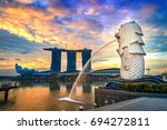 singapore   aug 10  2017  ... | Shutterstock . vector #694272811