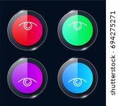 view four color glass button ui ...