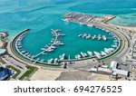 the marina at bahrain's amwaj... | Shutterstock . vector #694276525