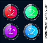 lamp four color glass button ui ...