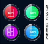 fridge four color glass button...