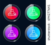 hood four color glass button ui ...